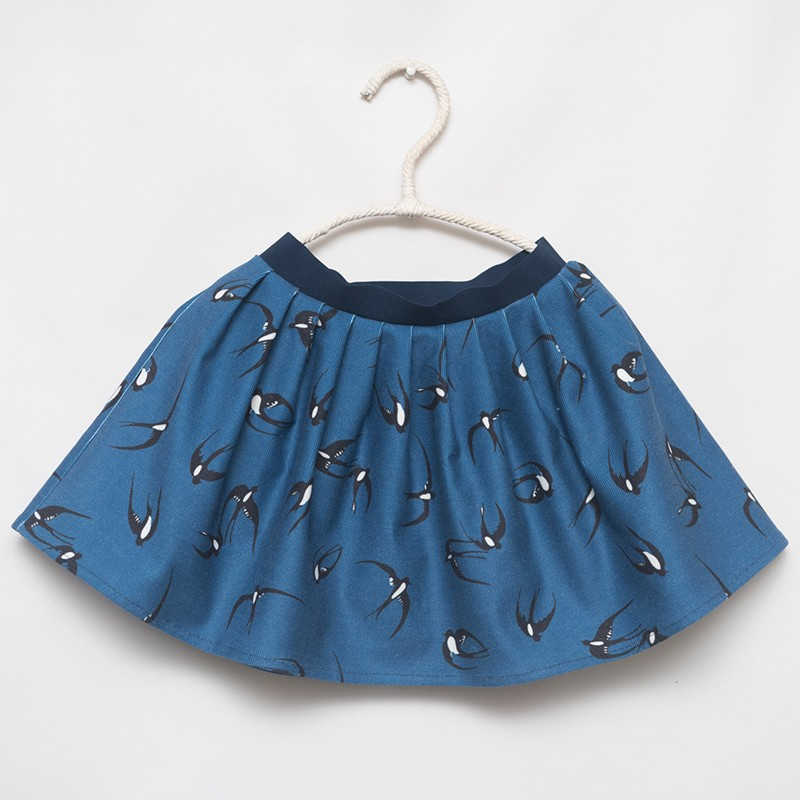 gonna - skirt - SWIFT BIRDS ON BLUE - OttO BE Milano