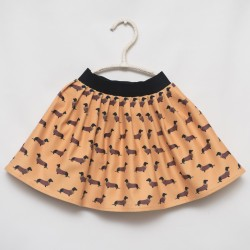 gonna - skirt - DOGS ON DARK YELLOW - OttO BE Milano