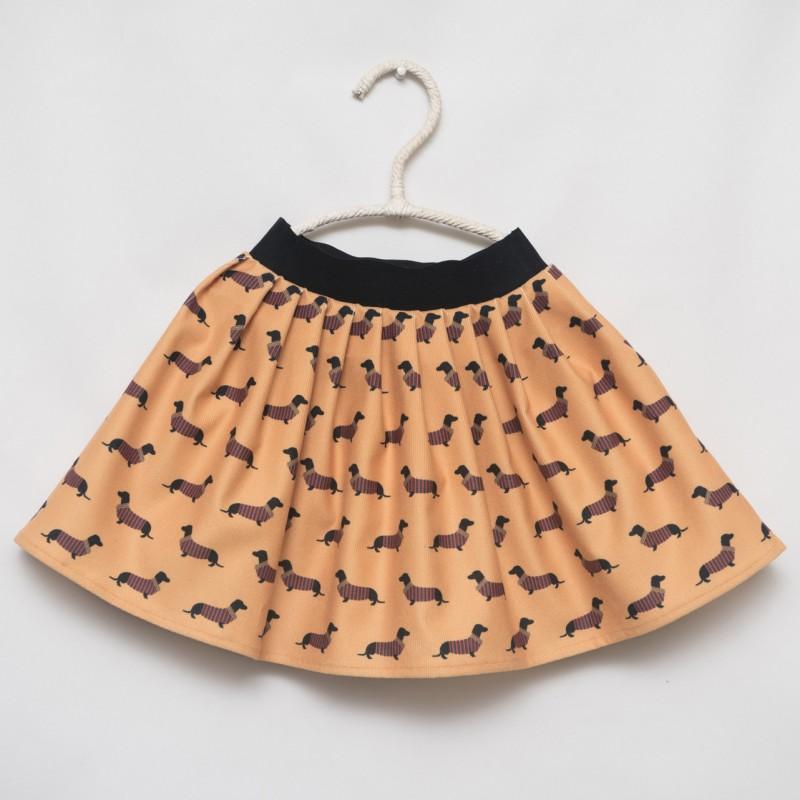 gonna - skirt - DOGS ON DARK YELLOW - OttO BE Milano