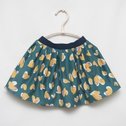 gonna - skirt - YELLOW HEARTS ON DEEP GREEN - OttO BE Milano