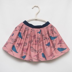 gonna - skirt - BYRDS ON DARK PINK - OttO BE Milano