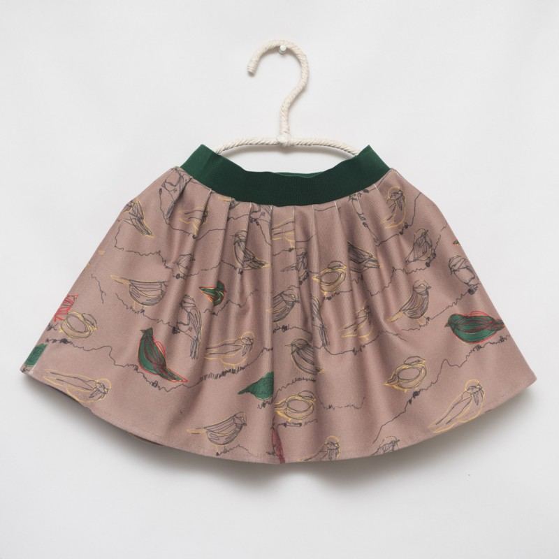 gonna - skirt - BYRDS ON LIGHT BROWN - OttO BE Milano