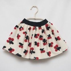 gonna - skirt - RED CHERRIES ON IVORY - OttO BE Milano