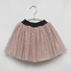 gonna - skirt - LITTLE SQUARED DOTS ON PINK TULLE WITH GLITTER - OttO BE Milano