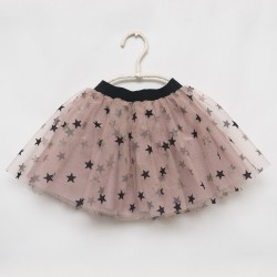 gonna - skirt - BLACK LITTLE STARS ON SKIN COLOR TULLE WITH GLITTER - OttO BE Milano