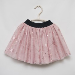gonna - skirt - STARS ON PINK COLOR TULLE WITH GLITTER - OttO BE Milano