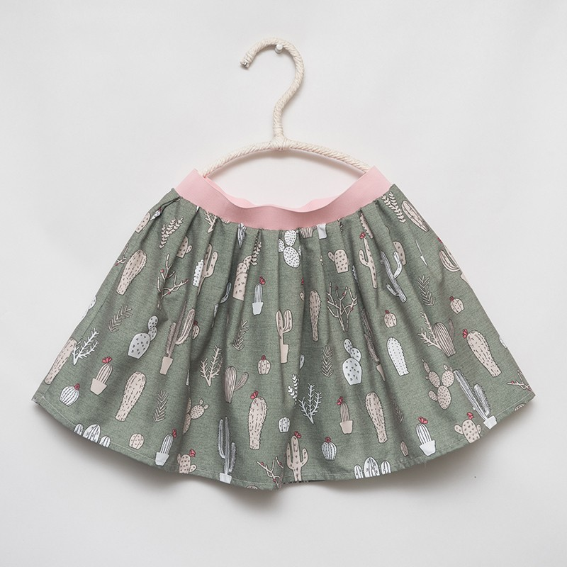 gonna - skirt - CACTUS ON HUNTER GREEN - OttO BE Milano