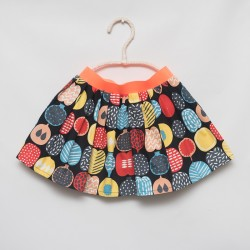 gonna - skirt - FRUITS ON BLACK - OttO BE Milano