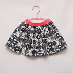 gonna - skirt - BLACK FRUITS ON IVORY - OttO BE Milano