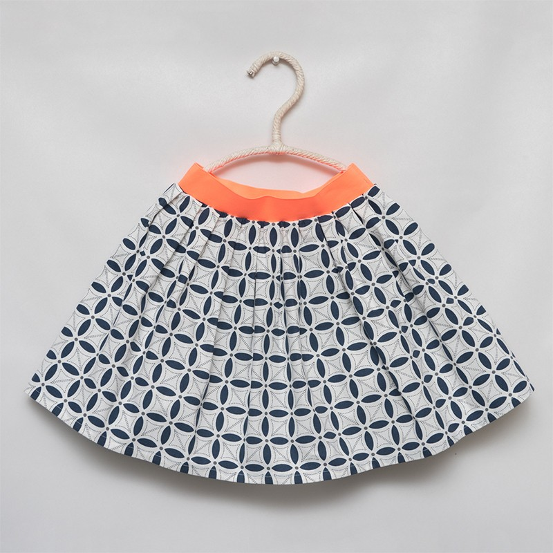 gonna - skirt - FLORAL BLACK PATTERN - OttO BE Milano