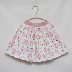 gonna - skirt - PINK PUPPIES ON IVORY - OttO BE Milano