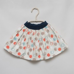 gonna - skirt - BALLON FRUITS ON IVORY - OttO BE Milano
