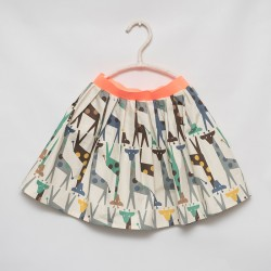 gonna - skirt - GIRAFFE GREEN AND GREY - OttO BE Milano