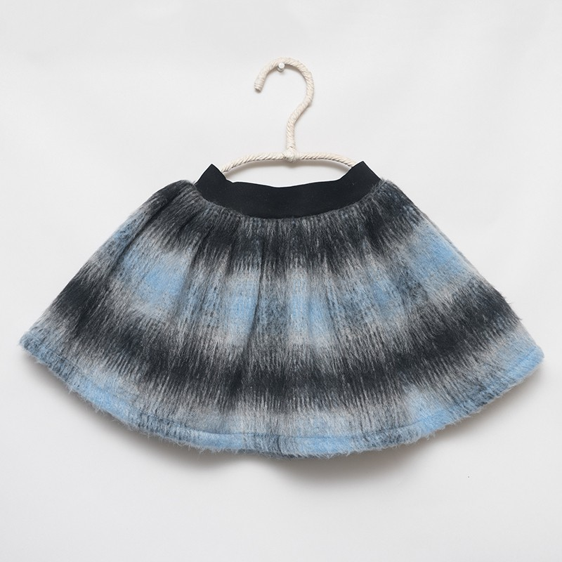 skirt - LIGHT BLUE MOHAIR - OttO BE Milano