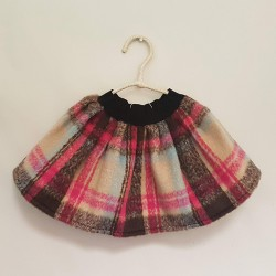 S050 - PINK AND IVORY TARTAN