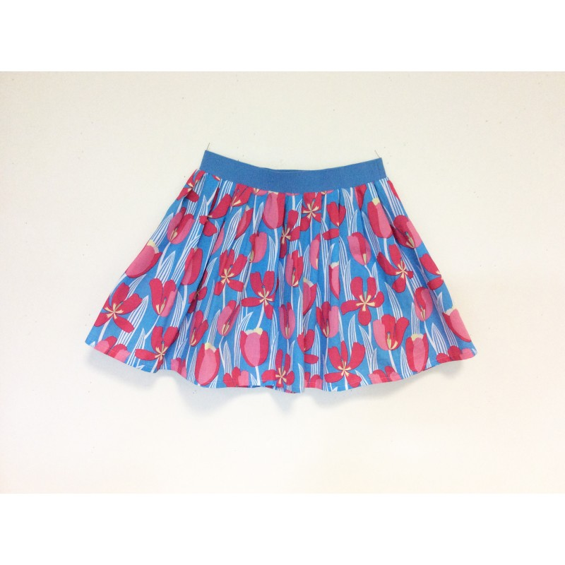 gonna - skirt - TULIPES ON LIGHT BLUE - OttO BE Milano