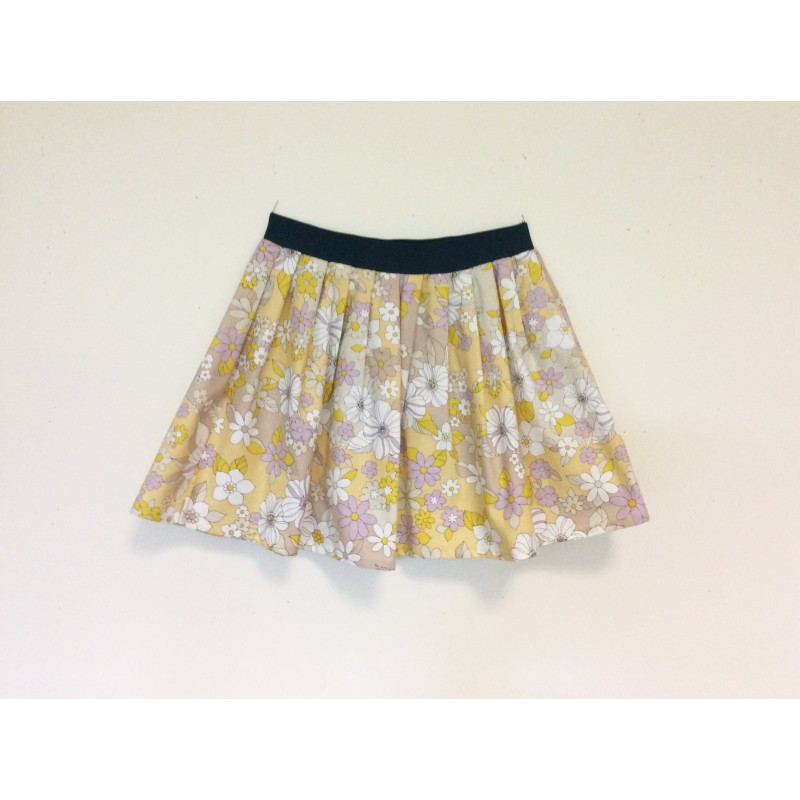 gonna - skirt - FLOWERS ON YELLOW - OttO BE Milano